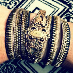gold zipper bracelet