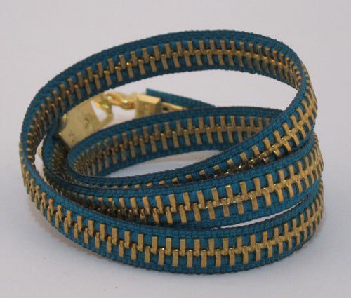 Zipper Bracelet Teal