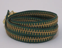 Load image into Gallery viewer, Zipper Bracelet Green