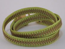 Load image into Gallery viewer, Zipper Bracelet Lime Green