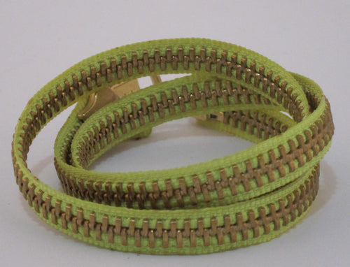 Zipper Bracelet Lime Green