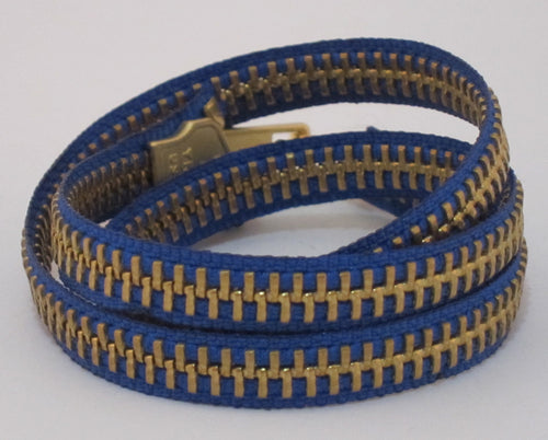 Zipper Bracelet Blue