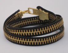 Load image into Gallery viewer, Zipper Bracelet Black