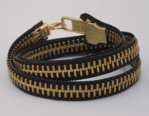 Zipper Bracelet Black