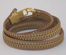 Load image into Gallery viewer, zipper wrap bracelet