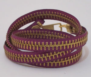 Zipper Bracelet Purple