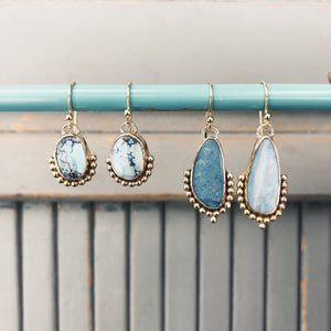 Turquoise Bauble Dangles in Gold Fill