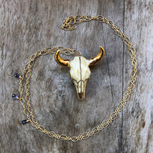 Load image into Gallery viewer, cow skull necklace
