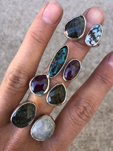 Load image into Gallery viewer, Double Stone Ring Sunstone & Turquoise