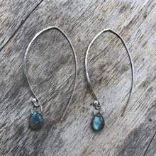 Load image into Gallery viewer, labradorite earrings sterling silver