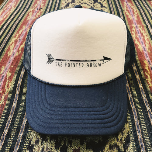 Pointed Arrow Hat Navy
