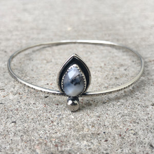 Agate Teardrop Bangle