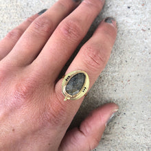 Load image into Gallery viewer, Sunstone Pattern Ring in Gold Fill