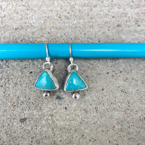 Triangle Turquoise Bauble Dangles Small