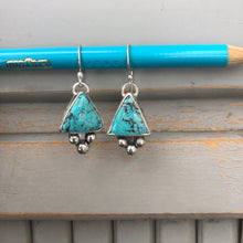 Load image into Gallery viewer, Triangle Turquoise Bauble Dangles Large