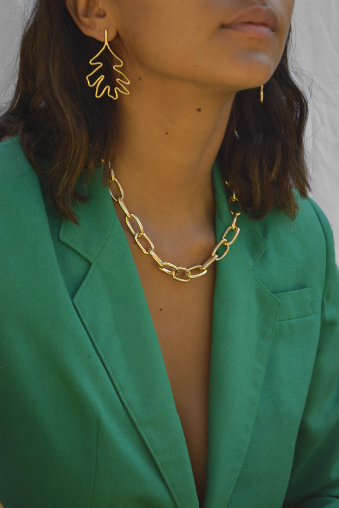 Young Frankk Ellsworth Earrings and Classic Chain