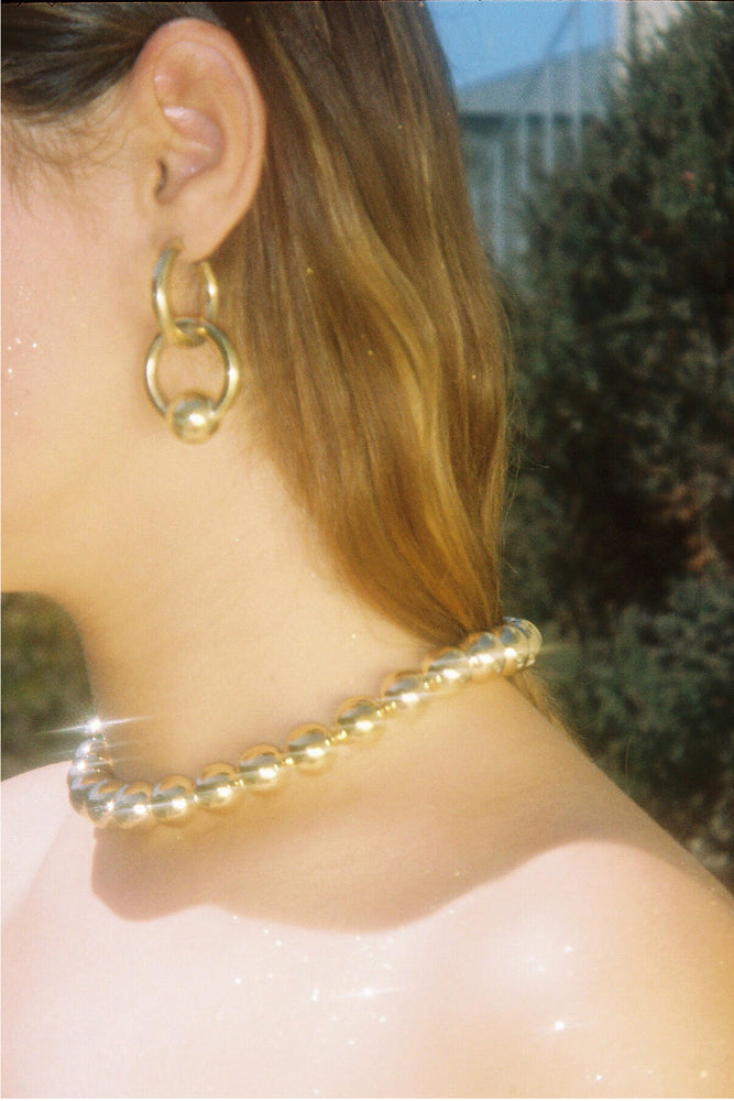 Young Frankk Cozette Earrings and Alex Beaded Collar