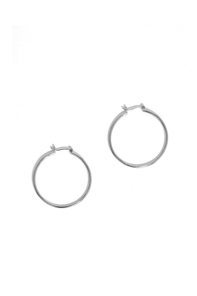 Bailey Hoop Earrings in Sterling Silver
