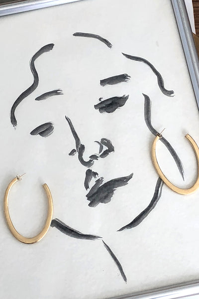 Young Frankk Outline Earrings
