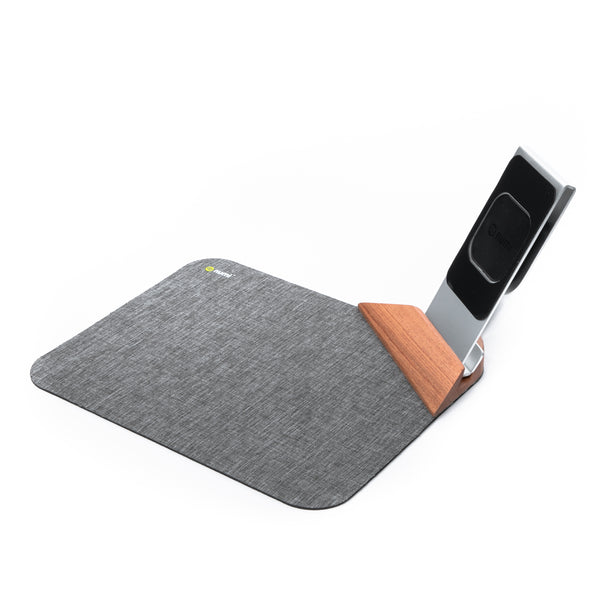 Power Mat Plus 10 W Qi Charging Mouse Mat With Phone Stand