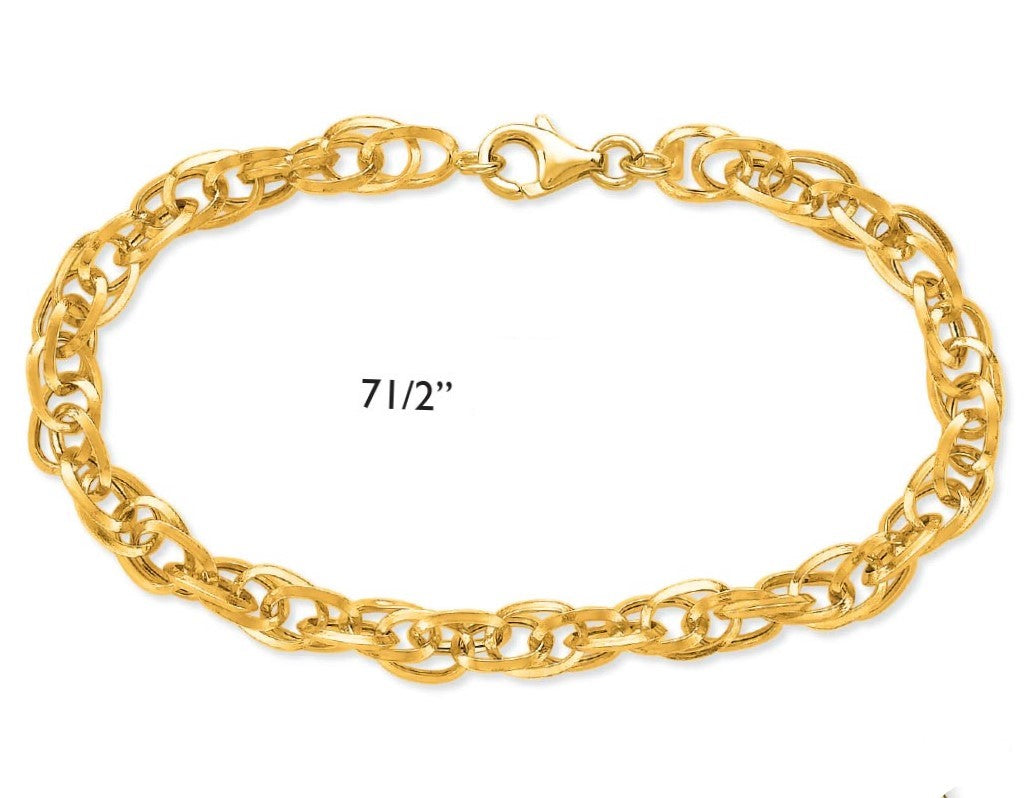 14K Gold Designer Bracelet - Alpha Shine On LLC