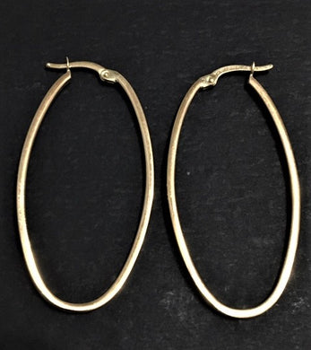 14K Oval Earrings - Alpha Shine On LLC