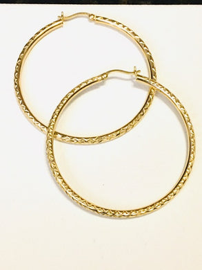 Large Hoops Earrings - Alpha Shine On LLC