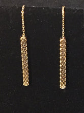 Load image into Gallery viewer, Dangling Earrings 14K Gold - Alpha Shine On LLC