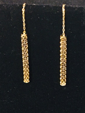 Dangling Earrings 14K Gold - Alpha Shine On LLC