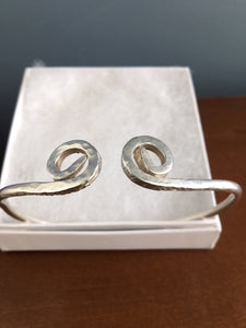 Silver Cuff Bracelet - Handmade - Alpha Shine On LLC