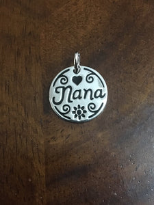 Nana Charm in Sterling Silver - Alpha Shine On LLC