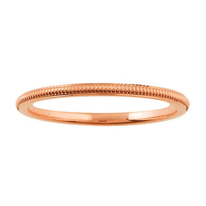 Wedding Band 14k White or Rose Gold - Alpha Shine On LLC