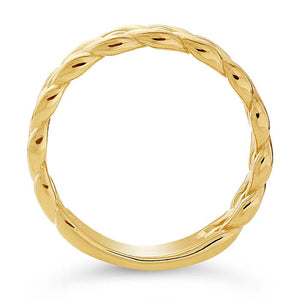 Gold Woven Wedding Band 6mm - Alpha Shine On LLC