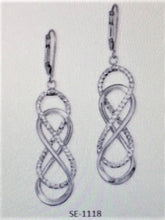 Load image into Gallery viewer, Sterling Silver Figure 8  Hanging Earrings - Alpha Shine On LLC