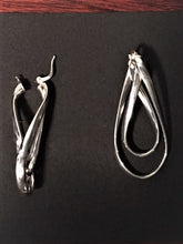 Load image into Gallery viewer, Sterling Silver Earrings,Twisted Oval - Alpha Shine On LLC