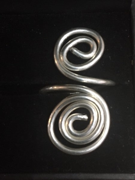 Twirl Ring in Sterling Silver - Handmade - Alpha Shine On LLC