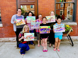 the amsden coffee house painting workshop girls night in your home