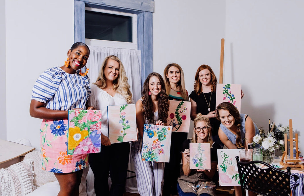 girls night in your home painting party kentucky