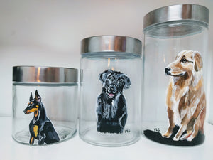 Hand Painted Jars