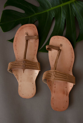 Neutral Plain Chappals