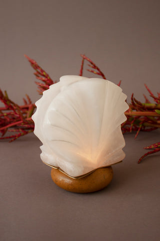 Shell Alabaster Candle Holder