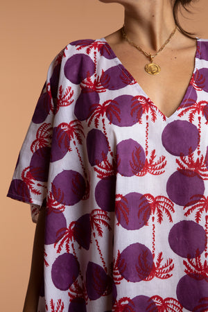 Plume Moon Palm Kaftan