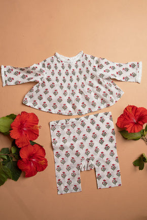 Mini Poppy Floral Ma Blouse Set