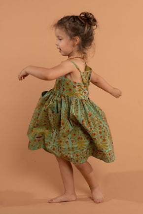 Green & Yellow Mandir Lilah Dress