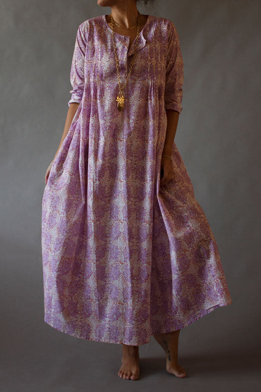 Lavender Banana Lounge Dress