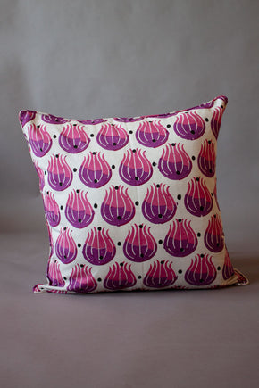 Pink Tulip Cushion Cover