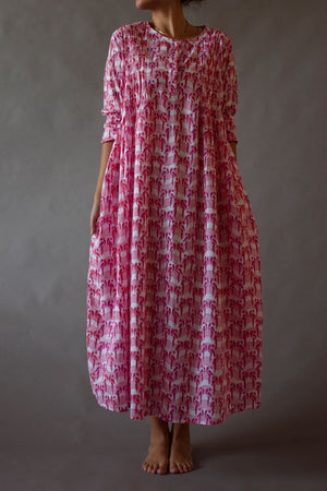 Pink Musical Parrots Lounge Dress