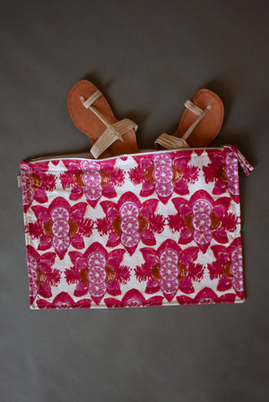Berry Citrus Printed Pouch