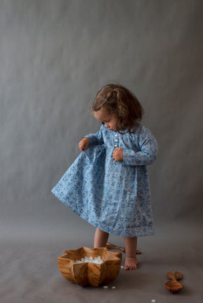 Faded Indigo Girl Bhopali Dress