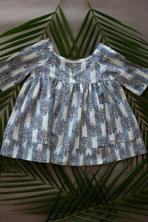 Blue Pala Buta Olive Girl Dress